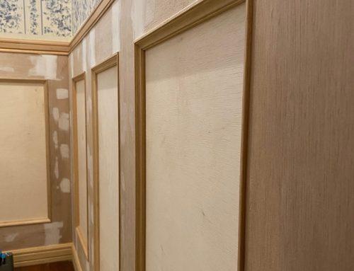 腰壁のあるトイレ