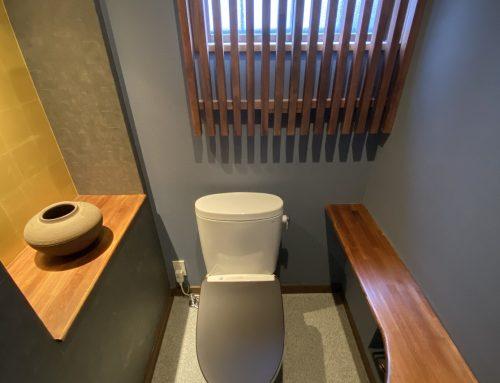 落ち着く「和風」デザイントイレ【所沢市店舗リフォーム】