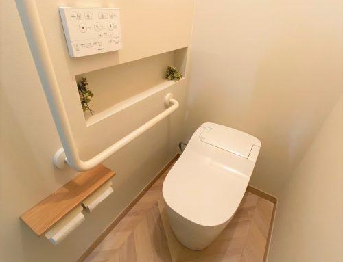 落ち着くユニバーサルデザイントイレ【所沢市事務所トイレリフォーム】